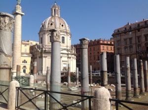 Impressive ruins of Rome