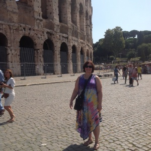 Donna outside Coliseum sep 2014
